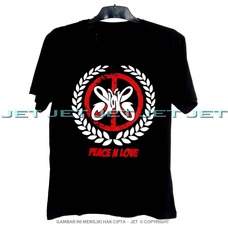 JeT - Black T-Shirt Premium Cotton Combed Slank Indonesia Kaka Bim Bim Slankers OI Orang Indo Peace