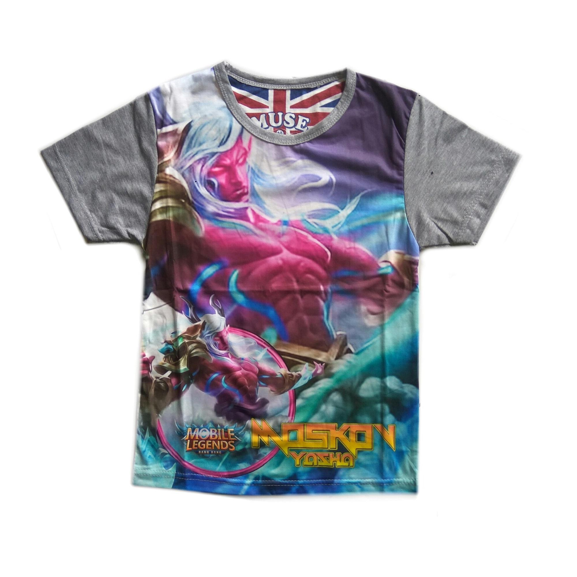 Jual Jasminesalsabila T Shirt Baju Kaos Anak Mobile Legend Full Printing Print Moskov