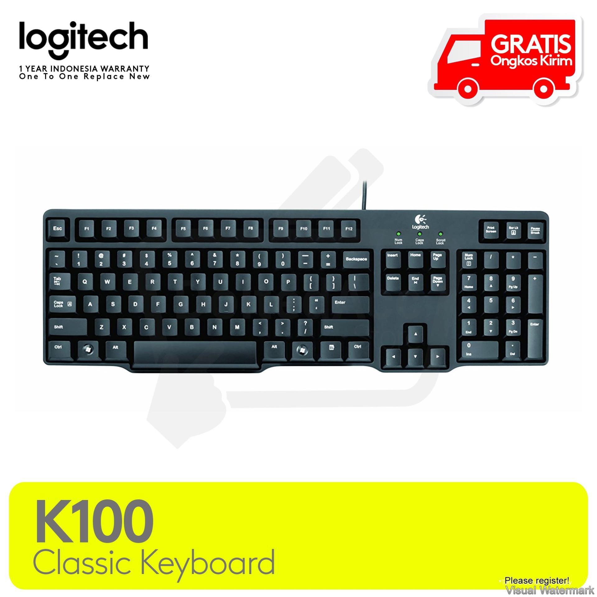 Logitech Keyboard Classic PS2 K100 - Hitam
