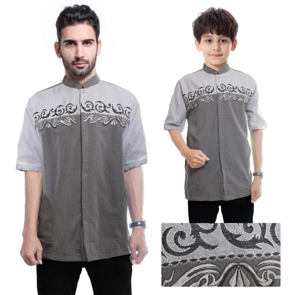 Miracle Baju Koko Muslim couple Ayah dan Anak  Ryan Kemeja Atasan Pria