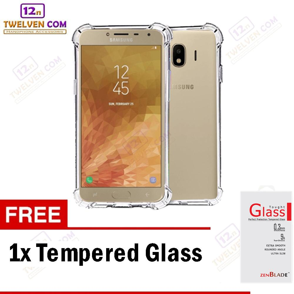 Zenblade Anti Shock Anti Crack Softcase Casing for Samsung J4 2018 - Free Tempered Glass