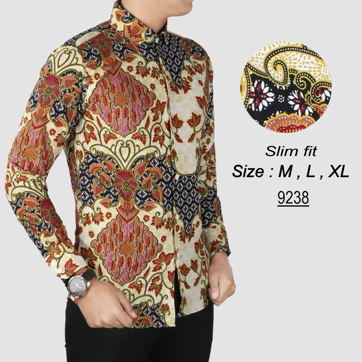 Batik Pria Modern Kemeja Pria Slim fit 9238