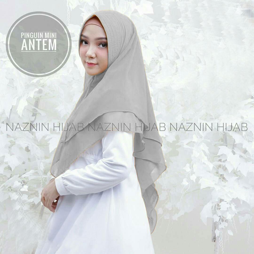 Pinguin Antem Naznin Abu / Khimar Pet / Khimar / Hijab Instan / Kerudung Syari / Muslim Wanita / Motif Hijab / Vanilla Hijab