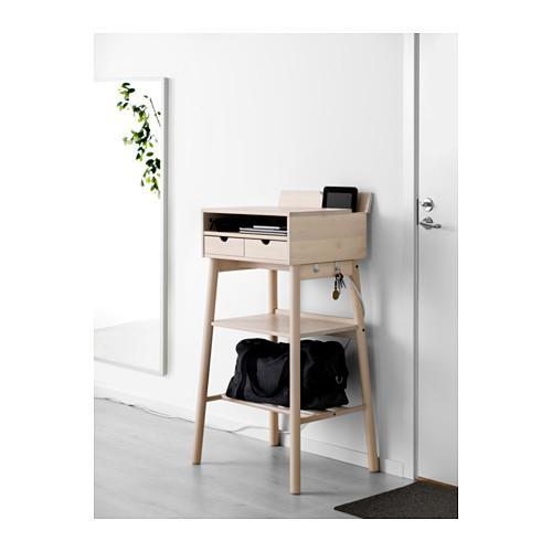 PROMO!! IKEA KNOTTEN Meja kerja berdiri, putih kayu birch MURAH /  BUBBLE 3 LAPIS / ORIGINAL / IKEA ORIGINAL
