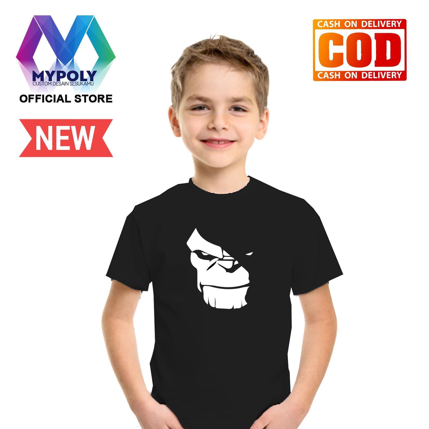 Kaos Premium Mypoly Anak Pria laki-laki AP / Baju Couple Family Keluarga / Tshirt distro / Fashion atasan / Kaos Anime / Kaos Animasi / Kaos Super Hero / Kaos Kartun / Kaos Cartoon / Kaos Lucu / Kaos Gambar Karakter / Kaos Anak Thanos Silhouette