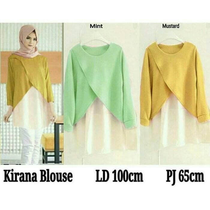 batik tunik vintage unik blouse muslim baju atasan bluss wanita gaul / Blouse Muslim / Blouse Muslim Model Terbaru