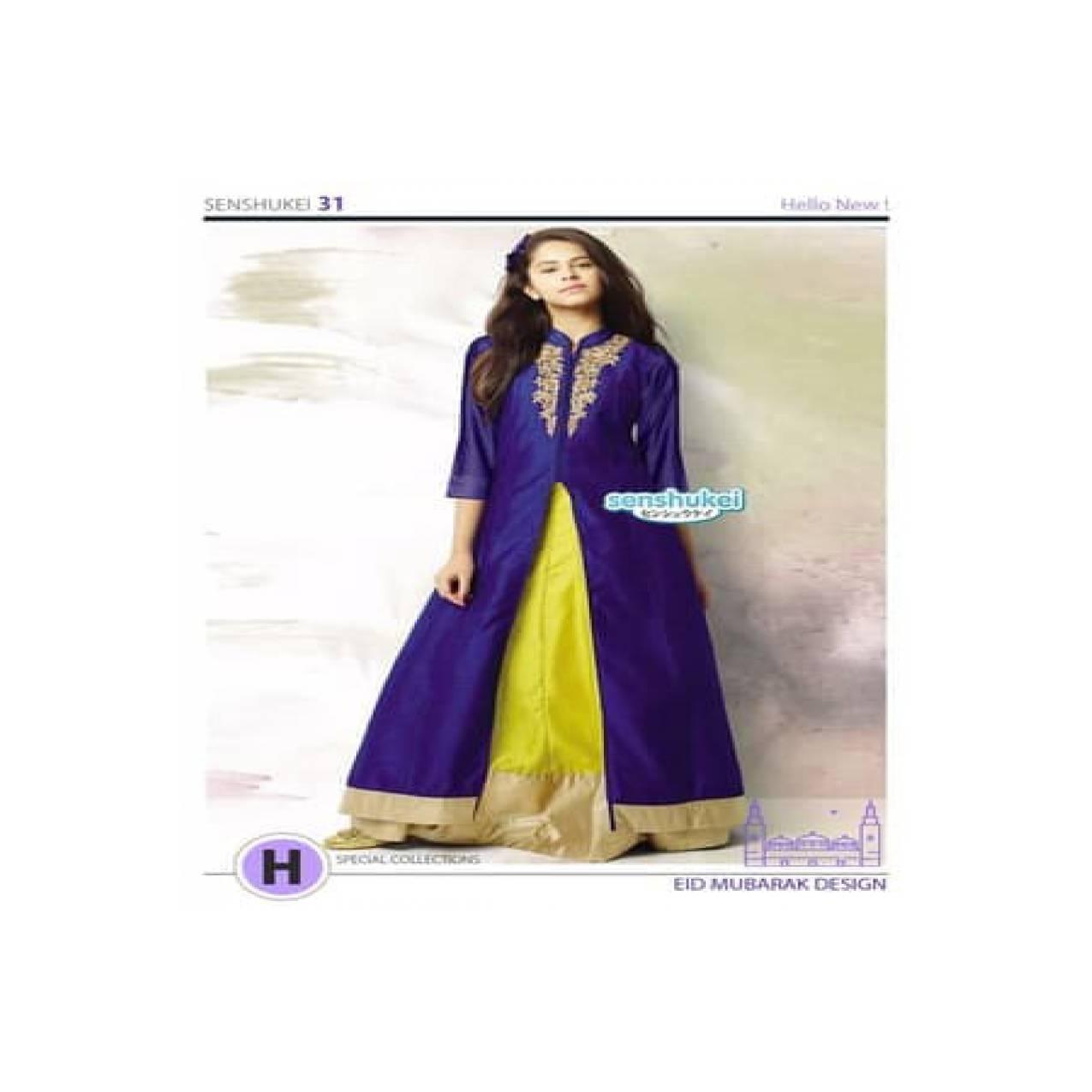 BAJU MUSLIM GAMIS INDIA SENSHUKEI 31 H DRESS LEBARAN ANAK 8-13 TAHUN