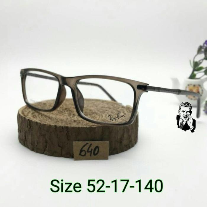 Hemat 10%!! Frame Kacamata Rv 640 Smoke Grey Kacamata Minus - ready stock