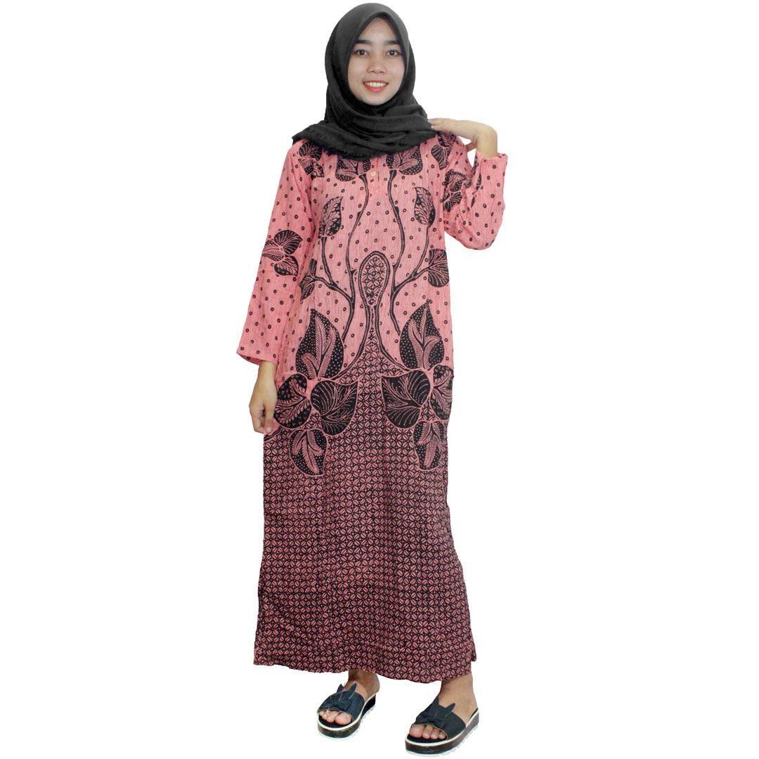 Longdres Batik, Daster Lengan Panjang Batik, Baju Tidur, Piyama, Kancing, Daster Bumil, Busui (LPT001-65) Batikalhadi Online