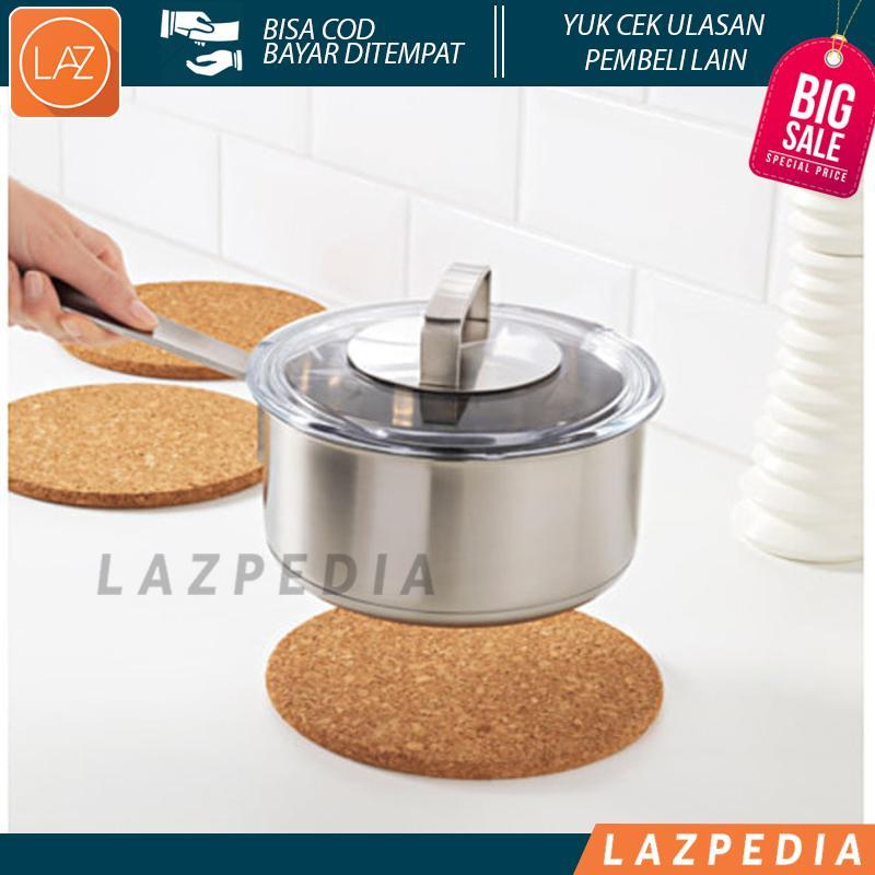 Laz COD - IKEA HEAT Alas Panci Set Isi 3pcs Untuk Meletakkan Alas Panci Bahan Gabus - Lazpedia