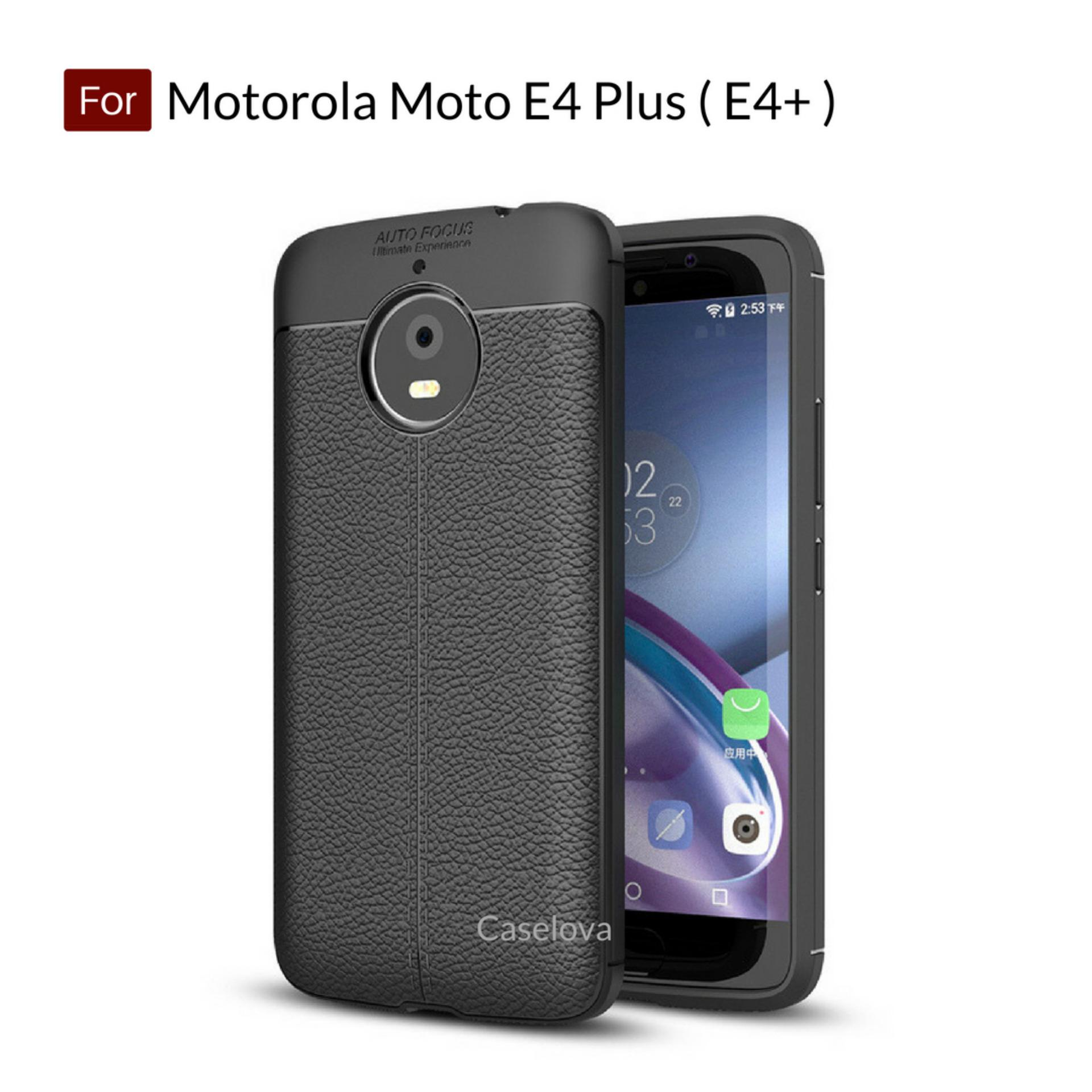 Caselova Ultimate Experience Shockproof Premium Quality Hybrid Case For Motorola Moto E4 Plus ( E4+ ) - Black