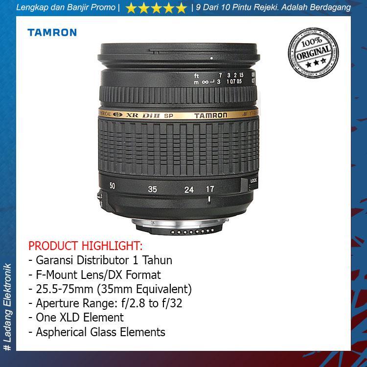 Tamron For Nikon SP AF 17-50mm f/2.8 XR Di II LD Aspherical (IF) / Garansi Distributor 1 Tahun - Original