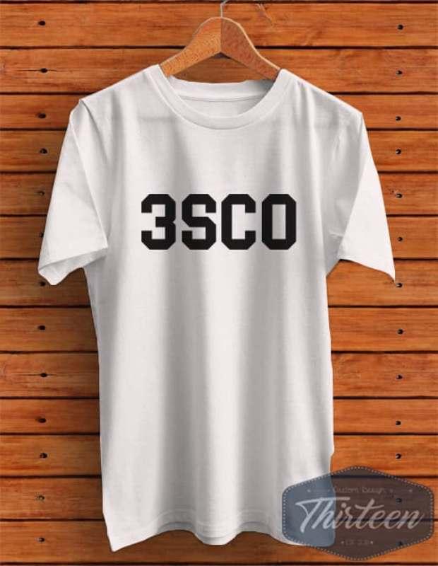 Kaos Baju Rep 3SCO 3Second 3 Second Kualitas Distro - Putih