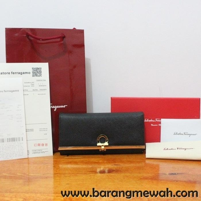 DOMPET SALVATORE FERRAGAMO CONTINENTAL WALLET BLACK