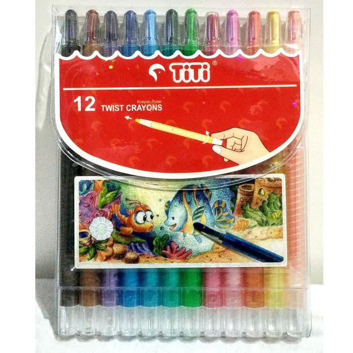 Crayon Putar Titi 12 Warna / Crayon Murah By Edantoys.