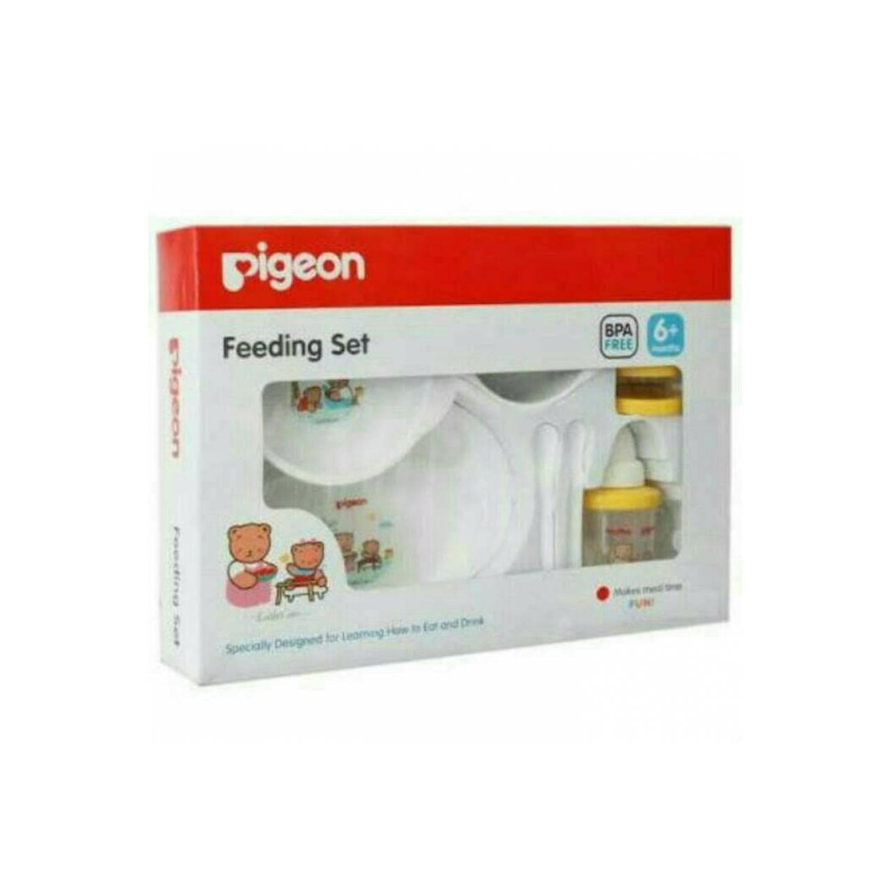 Pigeon Feeding Set komplit with training cup Tempat Makan Bayi Komplit a0ba41dd73