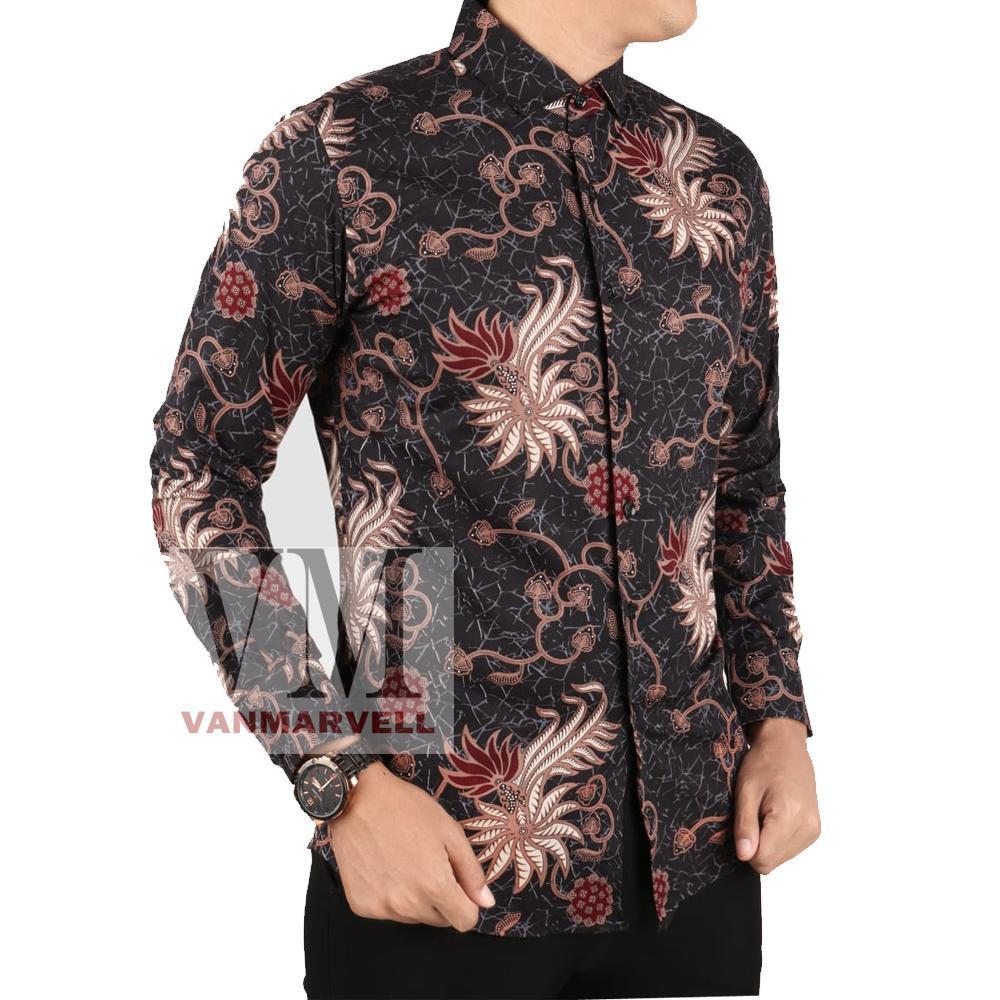 VM Kemeja Batik Tangan Panjang Slimfit - Casual Shirt