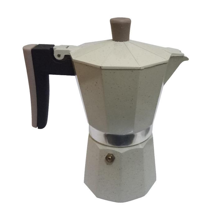 Cafetera Percolator Coffee/Teko Kopi/Moka Pot Alumunium 6 Cup White