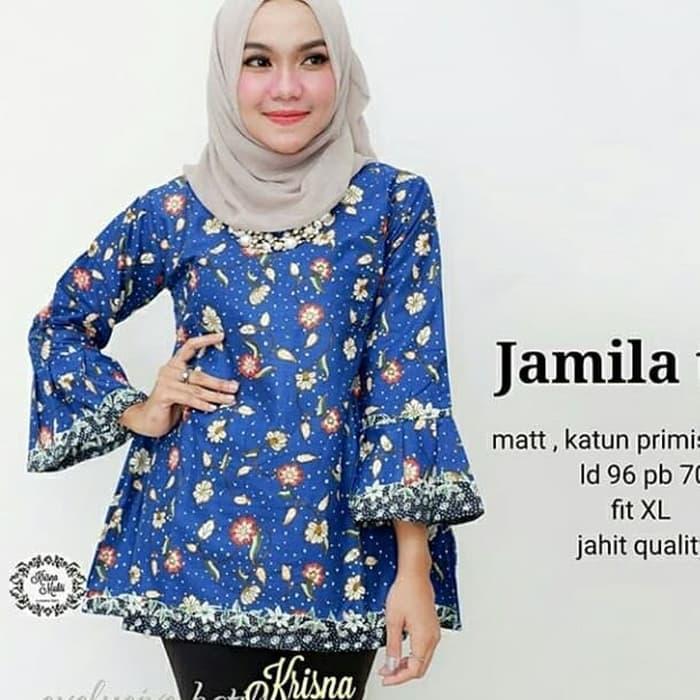 Atasan Batik Wanita Modern Terbaru / Dress Batik Kantor / Terima Pesanan Seragam Ukuran S -