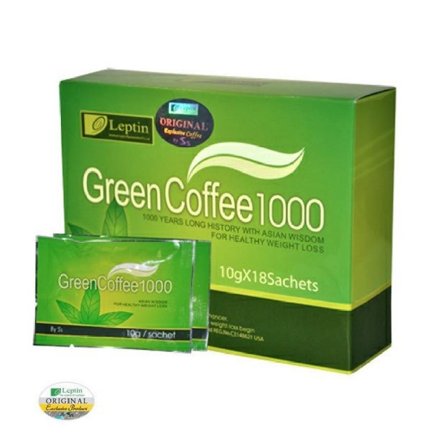 Leptin Green Coffee 1000 - 18 Sachet Kopi Pelangsing USA LEPTIN diet original / coffe leptin   Grosir Avail Greenfit Acay berry WMP Gnt Fiber detoxslim