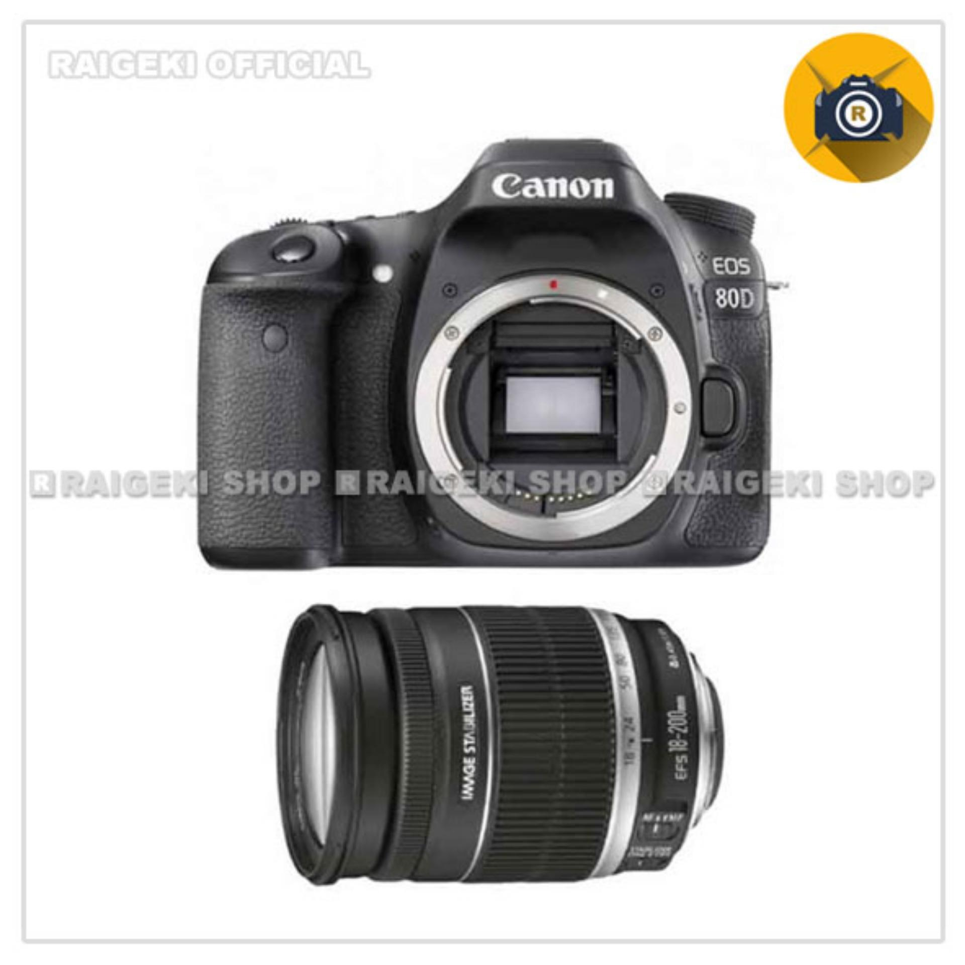 Canon EOS 80D Kit 18-200mm IS WiFi - Hitam