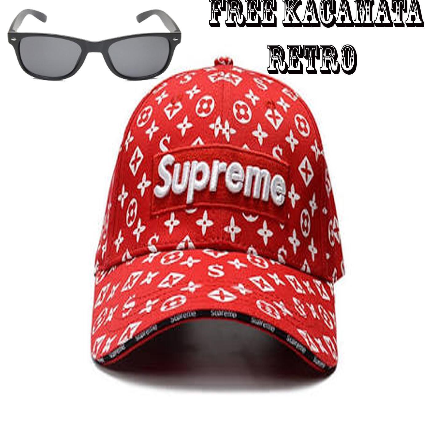 Topi Baseball Supreme Caps Bordir Tebal - Topi Supreme Baseball gratis  kacamata retro 20ddc30c78