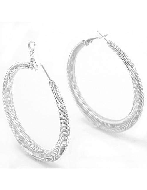LRC anting tusuk Elegant Color Spring Shape Design Pure Color Earrings .