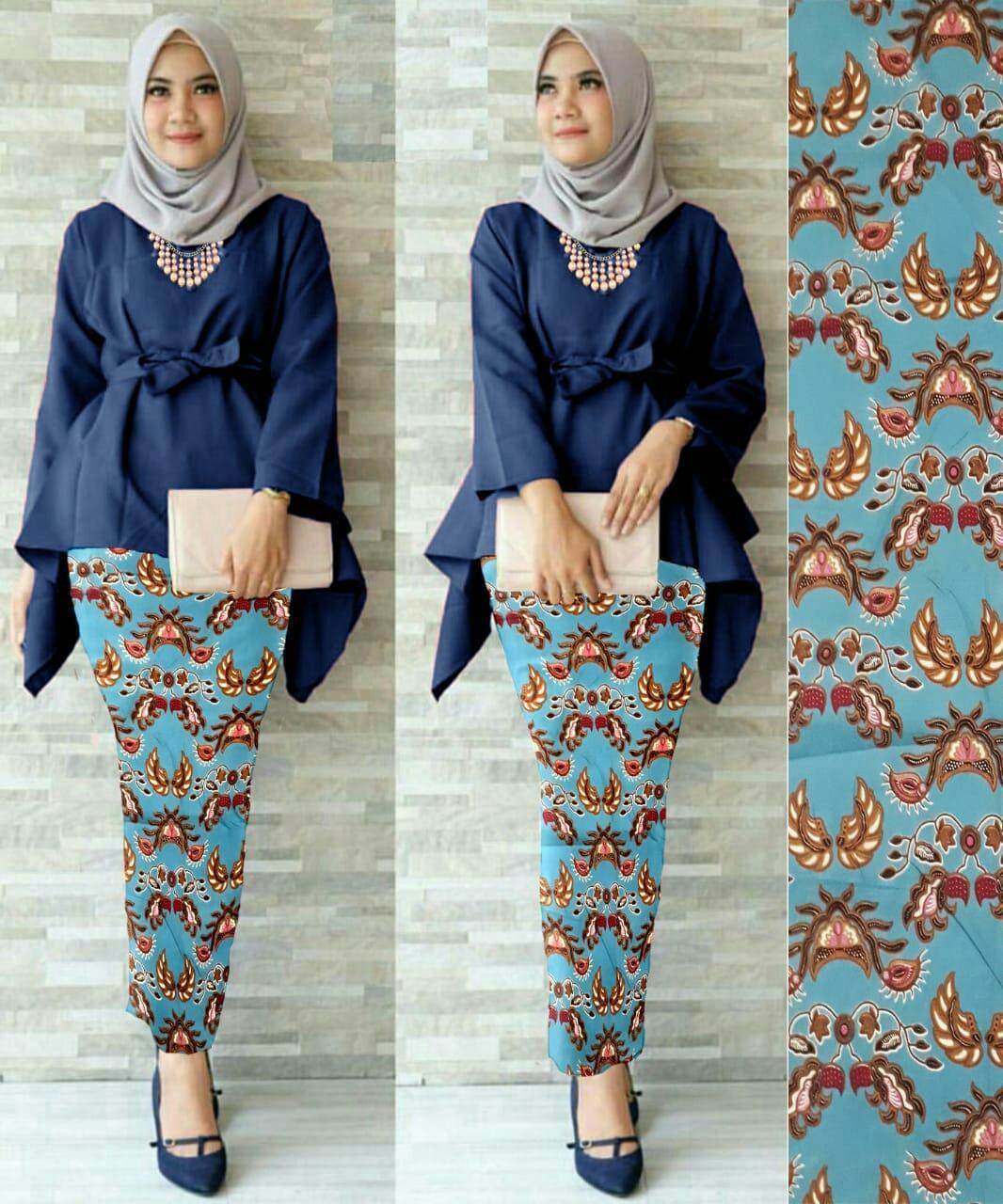 J&C Setelan Kebaya Bluely Pitha /  Atasan Wolpeach / Rok Batik Prada / Setelan Kebaya 2 in 1 / Baju Pesta / Kebaya Muslim / Rok Panjang Batik / Rok Batik / Baju Muslim / Hijab Style / Hijab Fashion