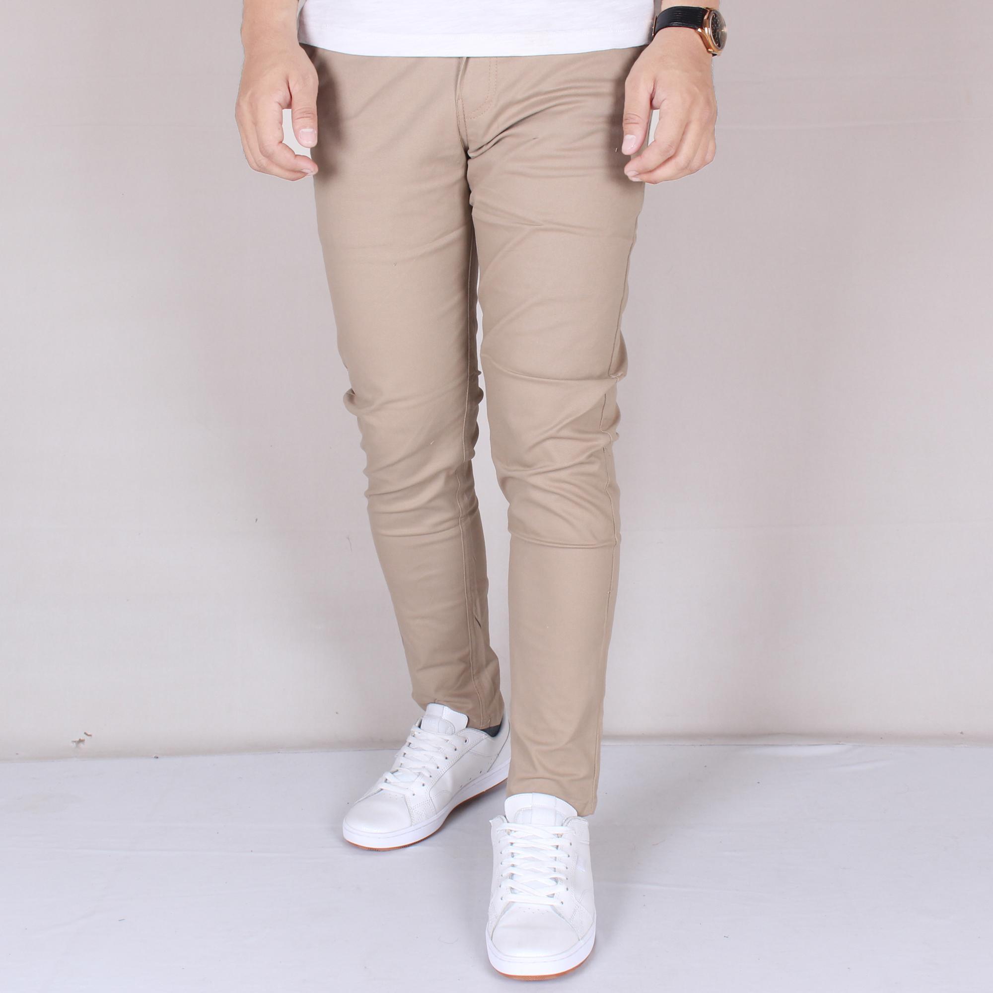 Pants Chino Celana Pendek Pria Zoeystore1 6016 Formal Panjang Cowok Kerja Kantoran Exclusive Mocca Simple