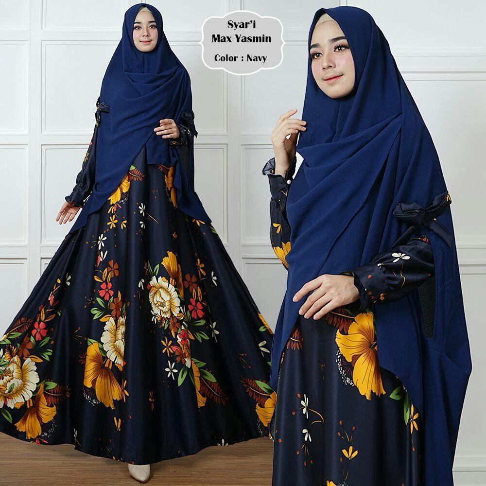 Humaira99 Baju Gamis Syari Muslim Wanita Busui Hijab LongDress Muslimah Maxmara Motif Lux Yasmin