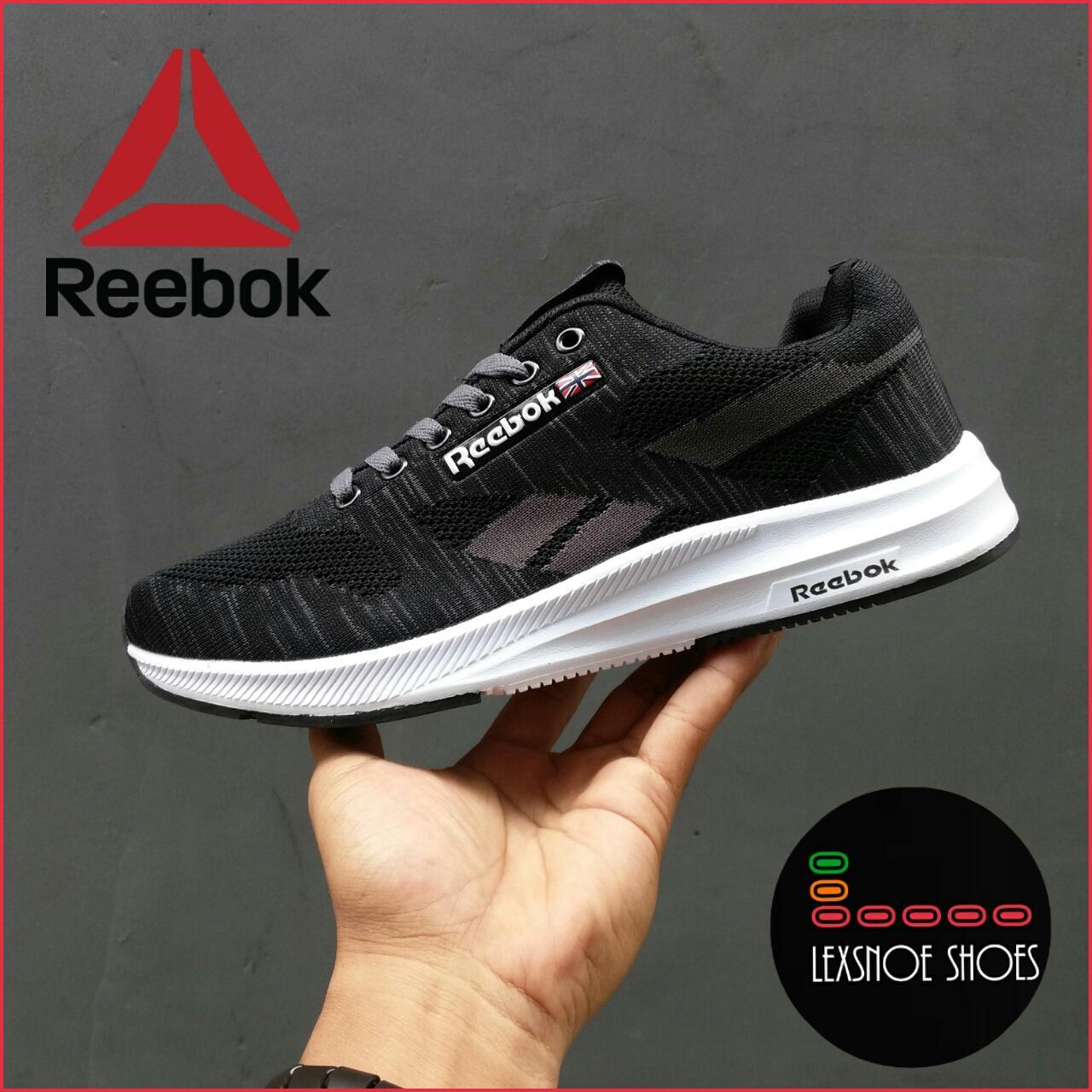 sepatu reebok running sport sneaker pria sporty extreem