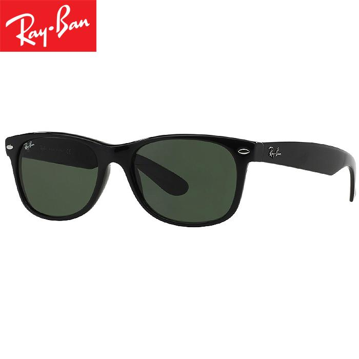 Rayban RB2132 901L Wayfarer Classic Kacamata Pria Wanita Eye Wear Men Women Sunglasses Black Frame Green Lens