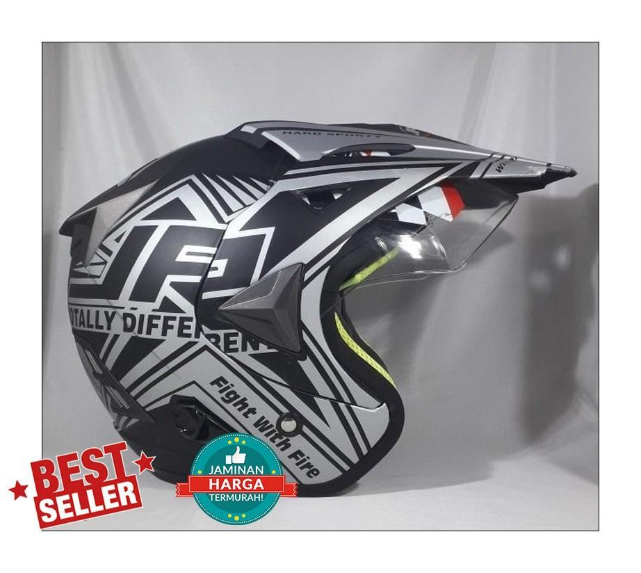 Jpx Supermoto Wild Rider Black Doff Silver sz. L