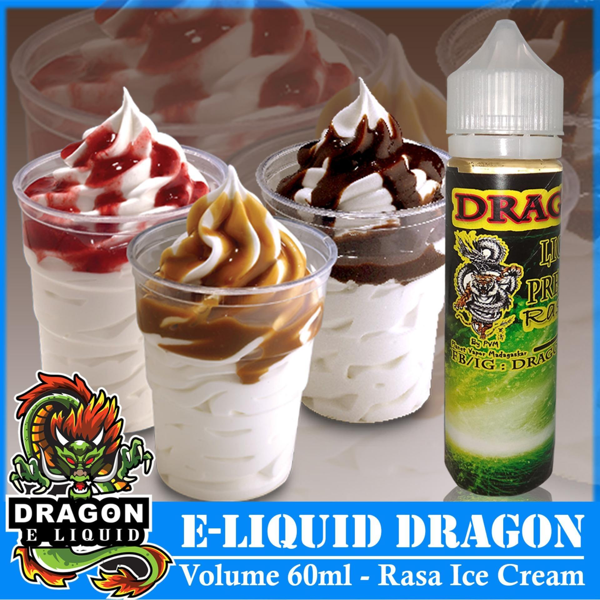 Liquid Tiger 100ml Rasa Ice Cream/Es Krim Free Liquid Dragon 5ml Rasa Random Vape Vapor & Rokok Elektrik