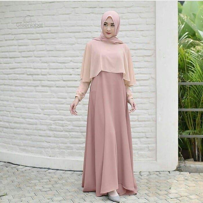 OEM Baju Original Swing Maxi Dress Muslim Modern Panjang Hijab Fashion Perempuan Casual Gamis Pakaian Wanita Terbaru