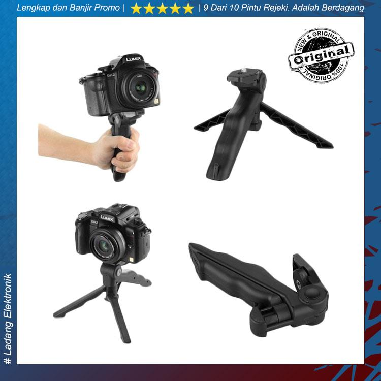 2 in 1 Portable Mini Folding Tripod for DSLR/Action Camera - Hitam Stand Kamera Camera Kuat Kokoh Berkualitas