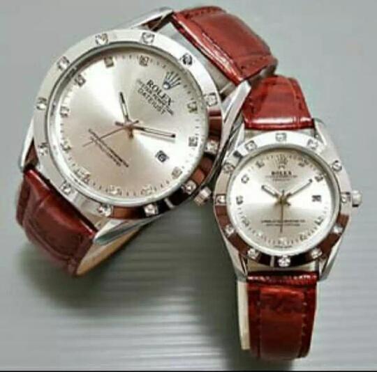 Jam Tangan Rolex Couple Leather