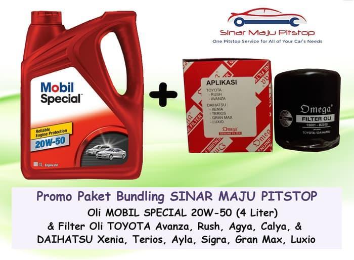 Paket Oli MOBIL SPECIAL 20W-50 4 LTR & Filter Oli TOYOTA AVANZA & RUSH