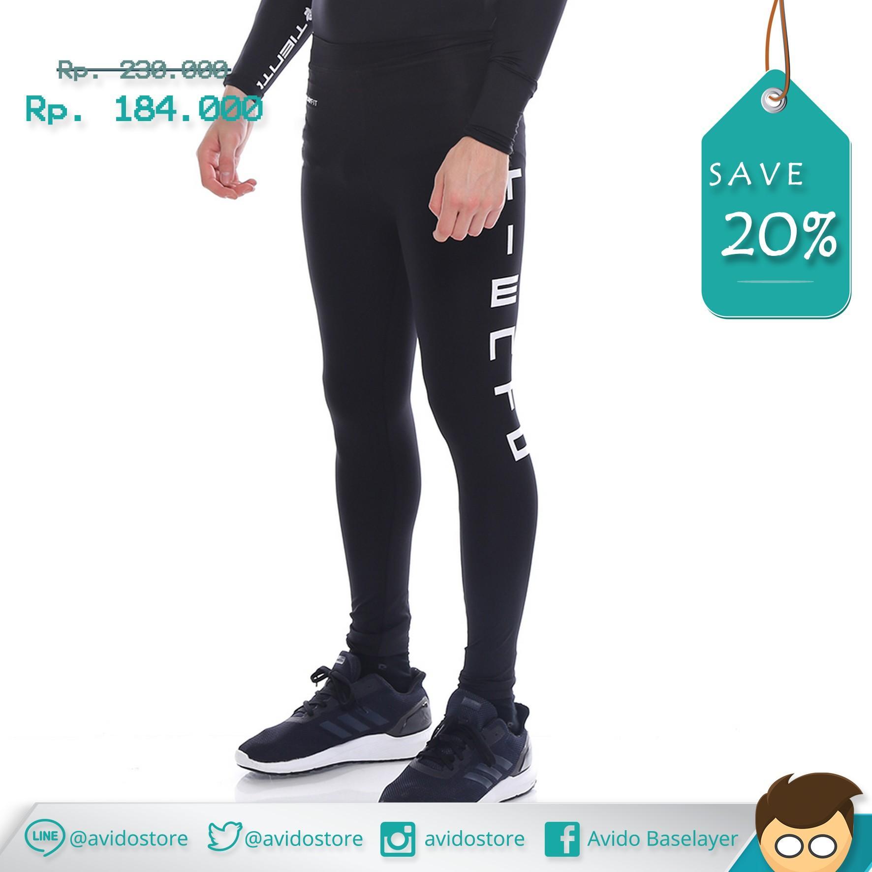 Manset Olahraga Pria Terbaik Premium Base Layer Sports Compression Adidas Nike Under Armour Tiento Baselayer Rash Guard Celana Panjang Renang Running Fitness Zumba Gym Legging Leging