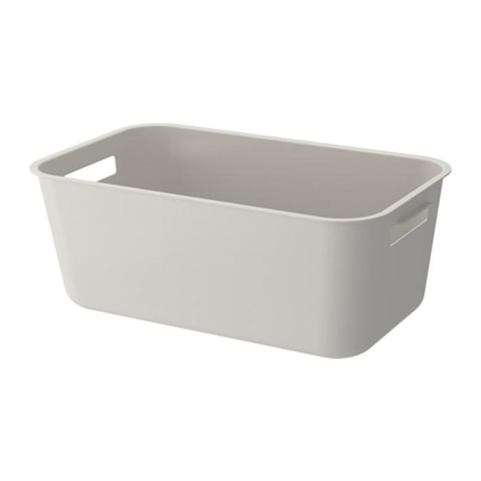 IKEA GRUNDVATTNET Baskom untuk bak Cuci Piring 23x39 cm, abu-abu