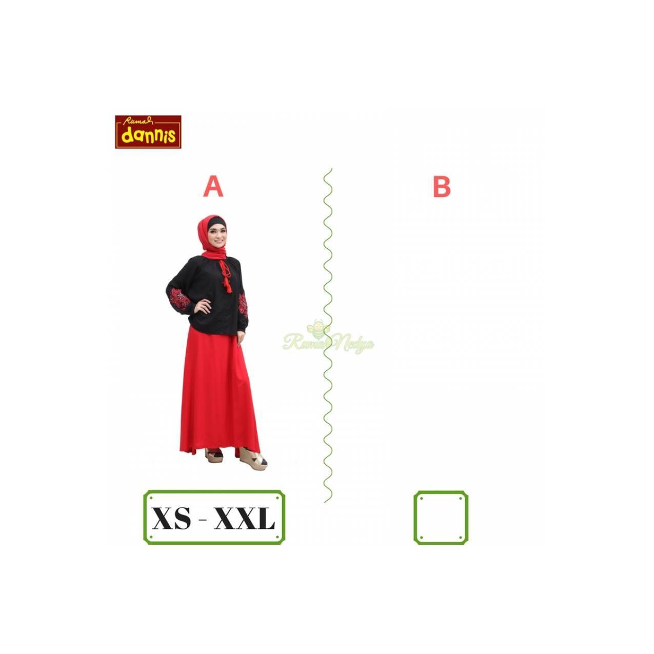 Gamis DANNIS 379rb / Abaya / Setelan / Baju Muslim