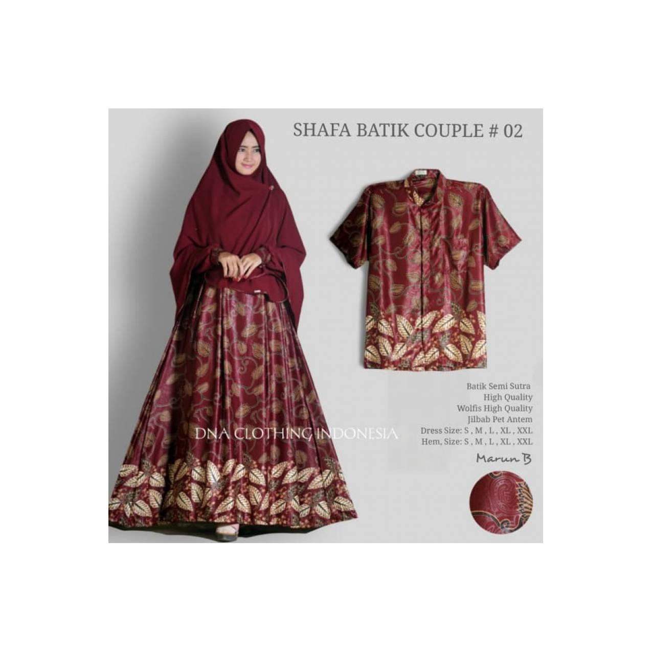 Shafa batik syar'i ori DNA C / Uk S, M, L couple