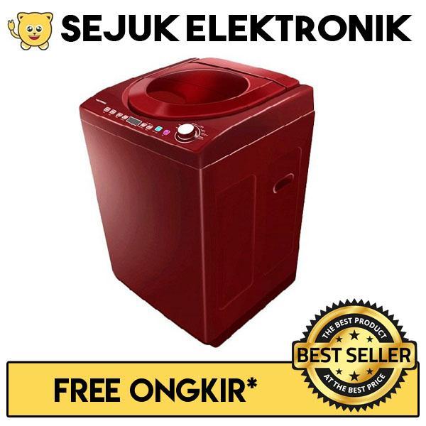 Polytron PAW 7512M Mesin Cuci Top Loading 7.5 Kg - Maroon (khusus JADETABEK)