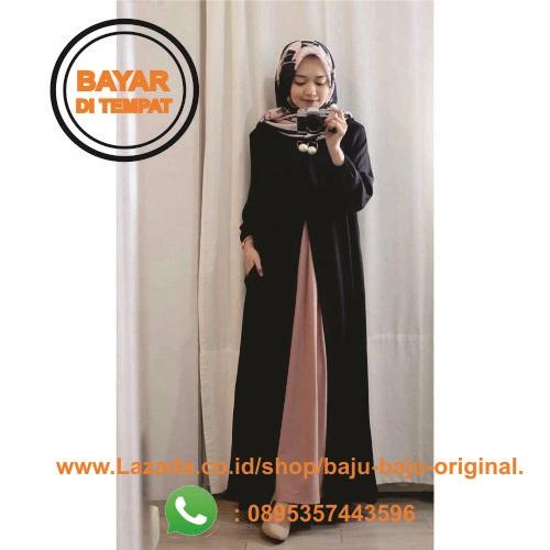 Baju Original Gamis Nindana Maxy Dress Wolfice Baju Wanita Gamis Casual Baju Terusan Panjang Baju Kerja Gaun Pesta Murah Remaja Baju Muslim Terbaru 2018