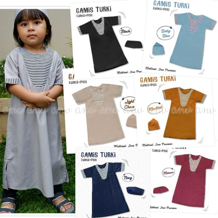 Gamis Koko Turki Anak 0-6 Tahun Abaya Jubah Baju Muslim Anak Laki