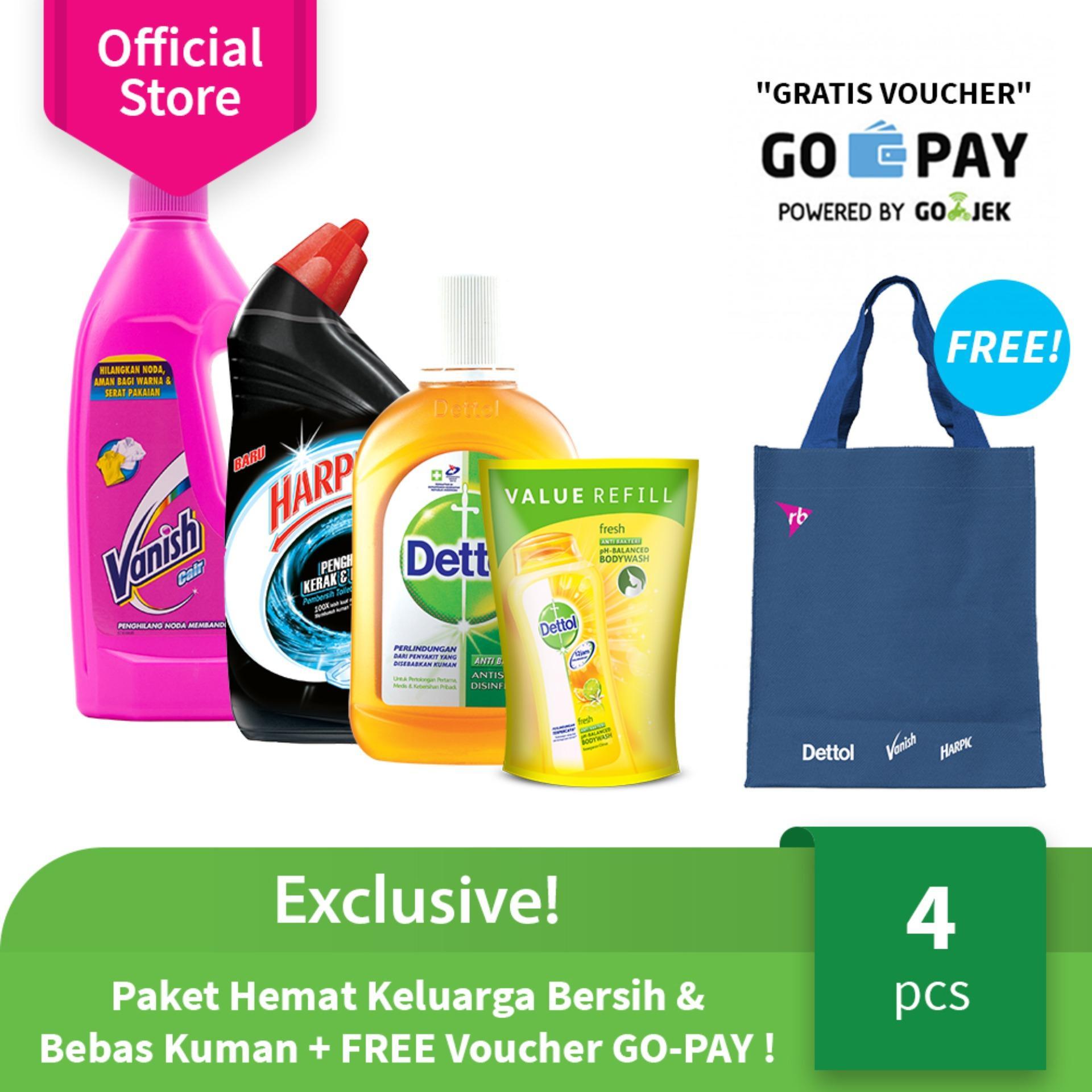 Exclusive! Paket Hemat Keluarga Bersih & Bebas Kuman + FREE Voucher GO-PAY ! (B)