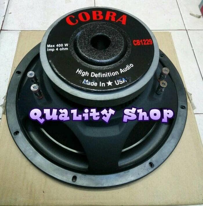 Original  subwoofer 12 inch cobra 400 watt made in usa 4-8 ohm