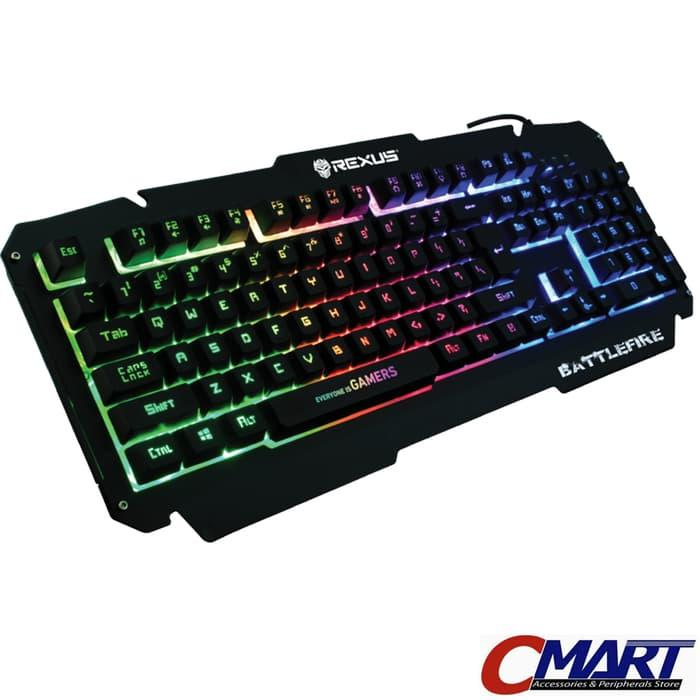 Rexus Keyboard Gaming K9D Semi Mechanical 19 Keys Anti Ghost - RX-K9D - Hitam