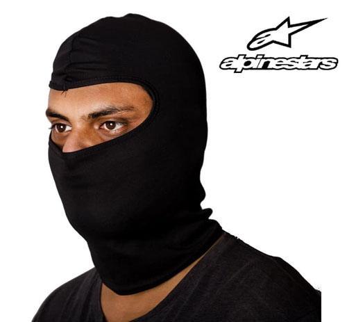 Jual Balaclava Masker Motor Sarung Kepala Helm ninja Alpinestar skull cap - HITAM ALL SIZE