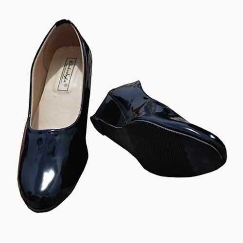 Therwan Sepatu Kerja / Sepatu Pantofel Wedges / Sepatu Formal D-500 / Black
